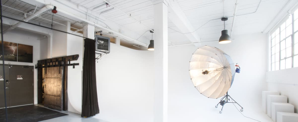 Daylight Photography Studio in Sodo with Cyclorama Wall in Seattle Hero Image in SoDo, Seattle, WA