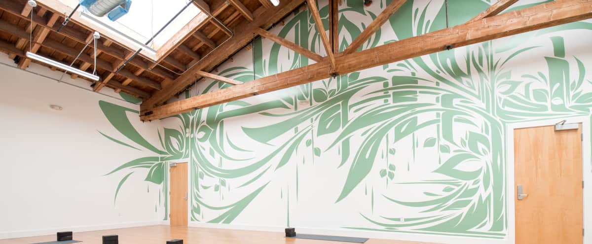 Spacious Yoga Studio in the Heart of San Francisco - 30 Foot Ceilings and Abundant Natural Light in San Francisco Hero Image in Cole Valley, San Francisco, CA