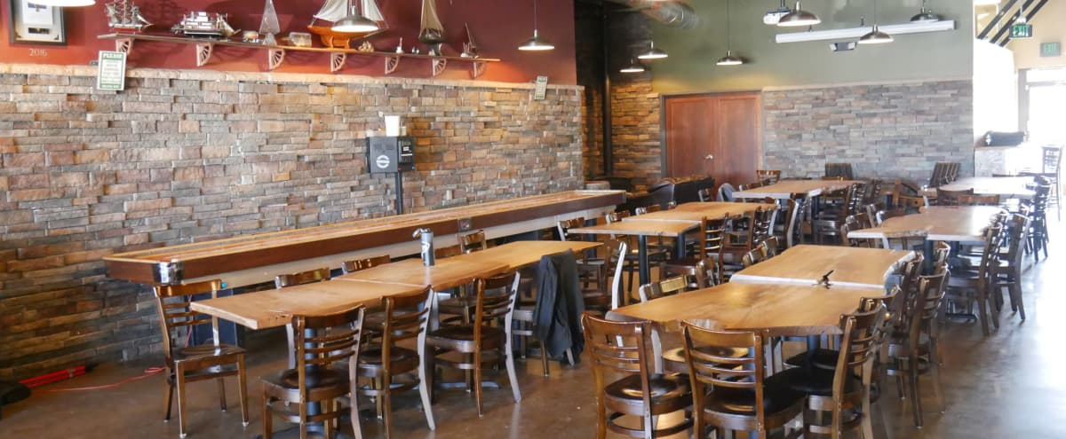 Barrel Room Event Space with Board Games & Shuffleboard in Aurora Hero Image in Meadow Hills, Aurora, CO