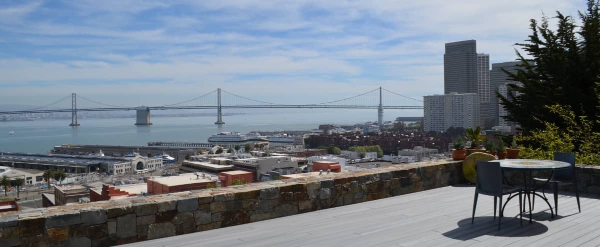 Custom-designed, expansive indoor/outdoor Bay views in San Francisco Hero Image in Telegraph Hill, San Francisco, CA