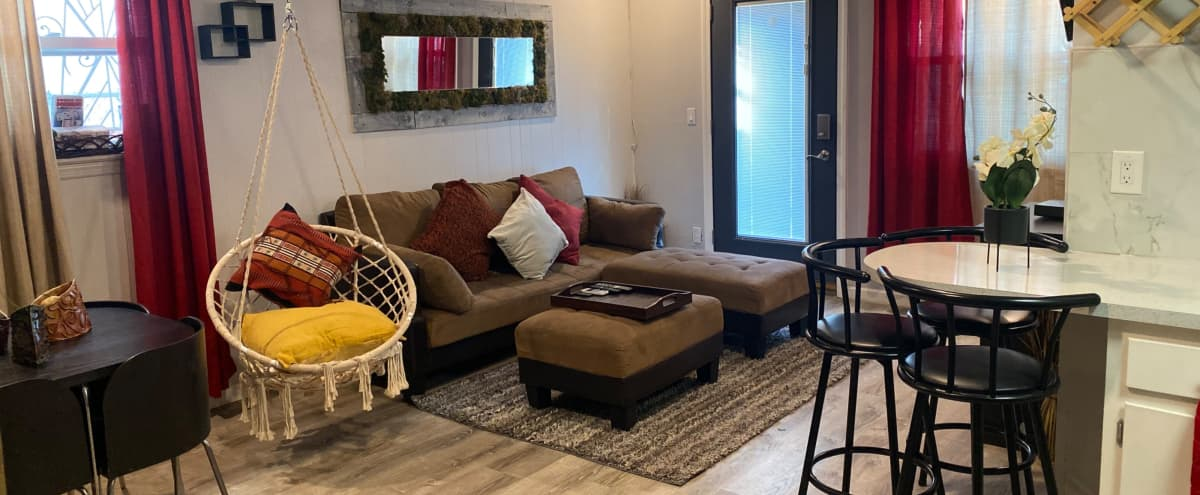 The Bronx Oasis- Rustic & Modern Apt with Garden Access in Bronx Hero Image in Unionport, Bronx, NY