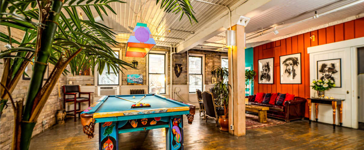 Eclectic Venue for Film/Photo Production in Toronto Hero Image in Entertainment District, Toronto, ON