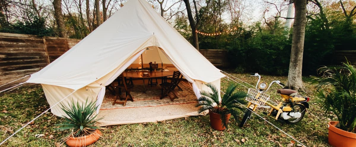 Huge East Dallas Backyard with Tent in Dallas Hero Image in Little Forest Hills, Dallas, TX