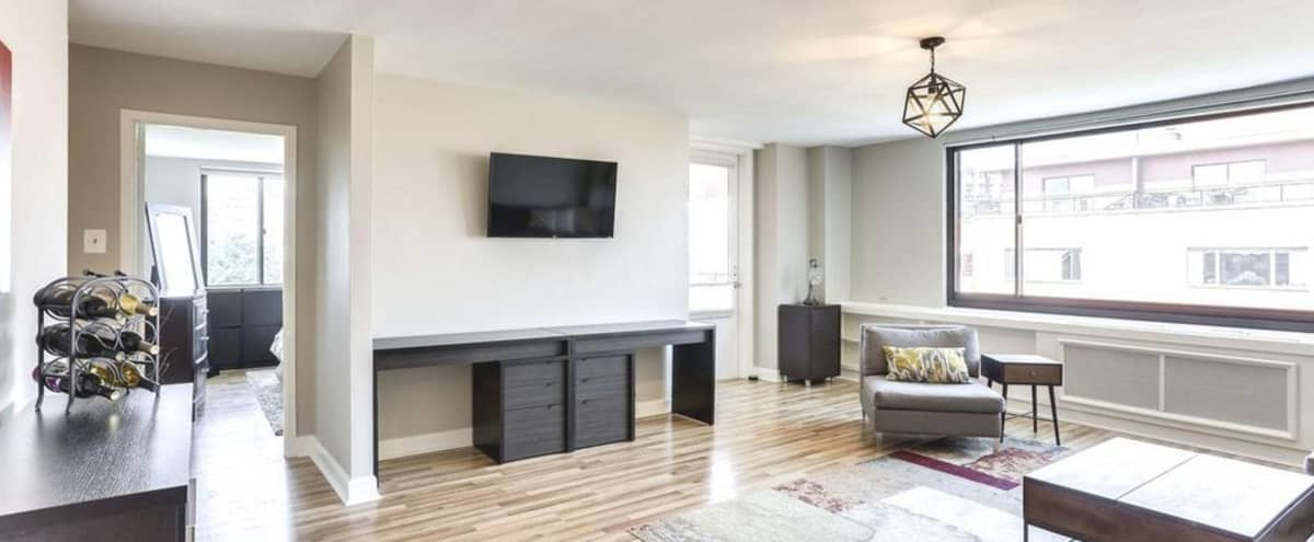 Spacious, Sun-Drenched Apartment with Patio and Panoramic Iwo Jima/Rosslyn Views in Arlington Hero Image in Radnor - Fort Myer Heights, Arlington, VA