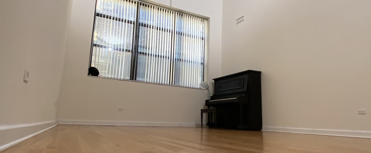 Spacious 3 Story Loft + 10Ft.Backdrop, Piano, Guitars, Photo Equipment, Natural Light, Kitchen in chicago Hero Image in Uptown, chicago, IL