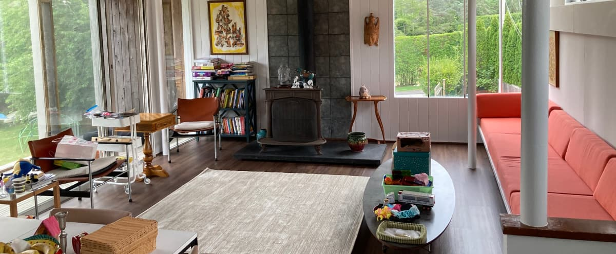 Mrs. Maisel & Mad Men in Mid-century Modern House on Water in Water Mill Hero Image in undefined, Water Mill, NY