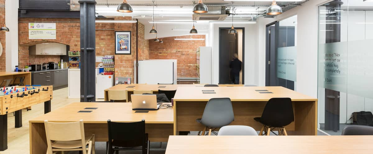 Newly refurbished, open plan warehouse in East London (close to the City) in London Hero Image in Whitechapel, London,