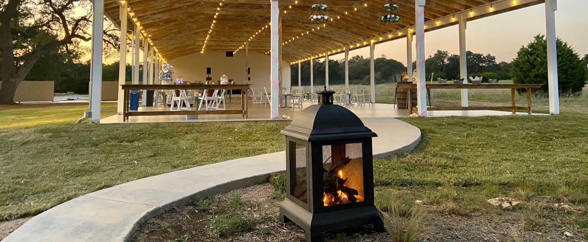 Beautiful Outdoor Pavilion with Stage, Prep Kitchen, Shaded Outdoor Spaces in dripping springs Hero Image in undefined, dripping springs, TX