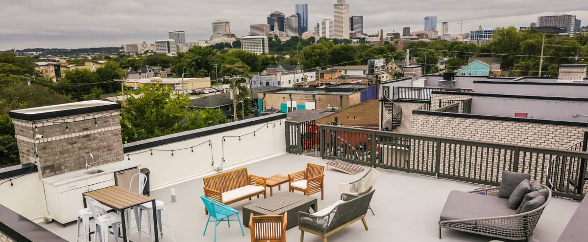 Great Location, 4-Story with Huge Rooftop Terrace/1.5 Miles to DT in Nashville Hero Image in Buena Vista, Nashville, TN