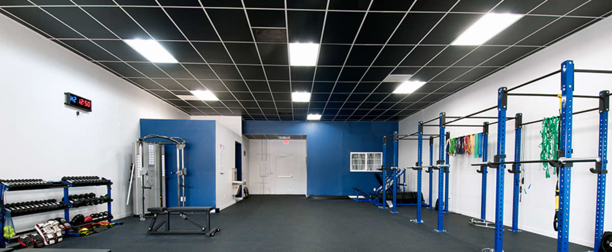 Open Floor High Ceiling Gym with Ample Equipment of all Styles in Chatsworth Hero Image in Chatsworth, Chatsworth, CA