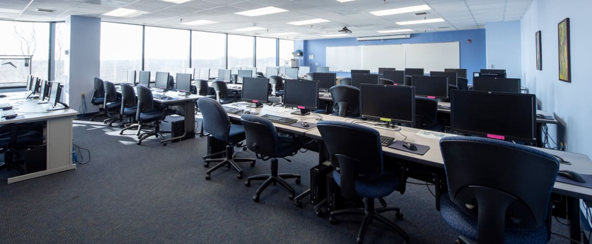 Spacious 32 Person Fully Equipped Computer Lab and Training Room in Columbia Hero Image in Town Center, Columbia, MD
