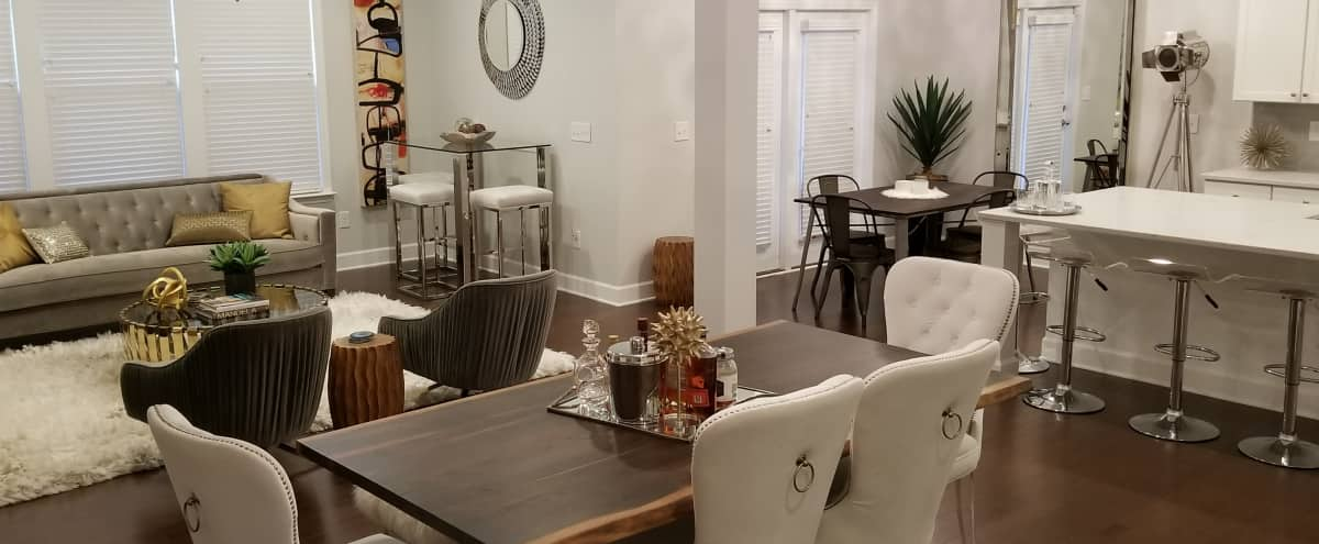 Modern White Kitchen with High End Features, Part of Open Concept Living Space: GREAT FOR TV, FILM, COMMERCIALS in Smyrna Hero Image in Cumberland, Smyrna, GA