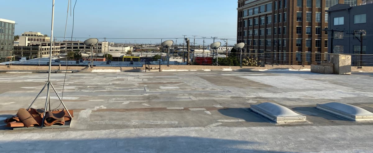 DTLA Arts District Rooftop with Stunning Views for Shoots in Los Angeles Hero Image in Central LA, Los Angeles, CA