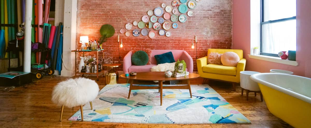 Colorful Loft in prime Dumbo in Brooklyn Hero Image in Dumbo, Brooklyn, NY