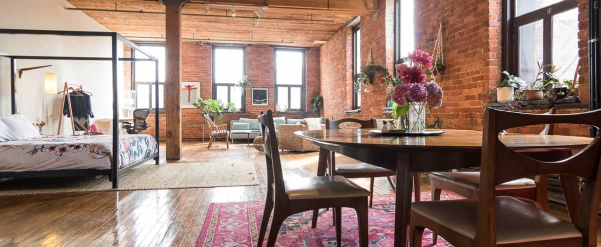 ❤️ Amazing Loft Studio for Lifestyle / Natural Light / Boudoir Photo Shoots in Detroit Hero Image in West Side Industrial, Detroit, MI