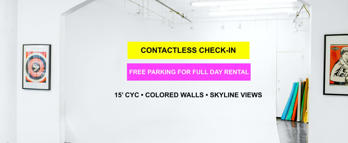15' CYC WALL + COLORED WALLS in Los Angeles Hero Image in Central LA, Los Angeles, CA