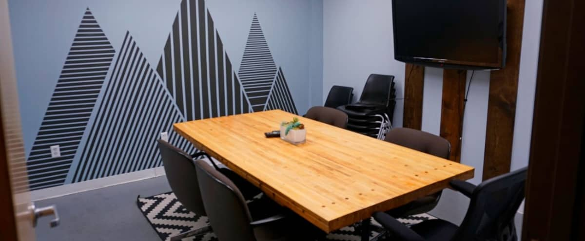 Conference Room - Creative Private Meeting Room with Mural in Austin Hero Image in Govalle, Austin, TX