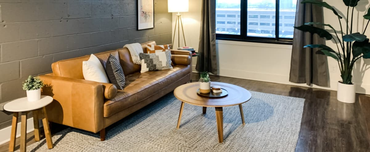 Cozy Styled Apartment for Film/Photo Shoots | Minimalist + Neutral for Content Creation in Detroit Hero Image in New Center, Detroit, MI