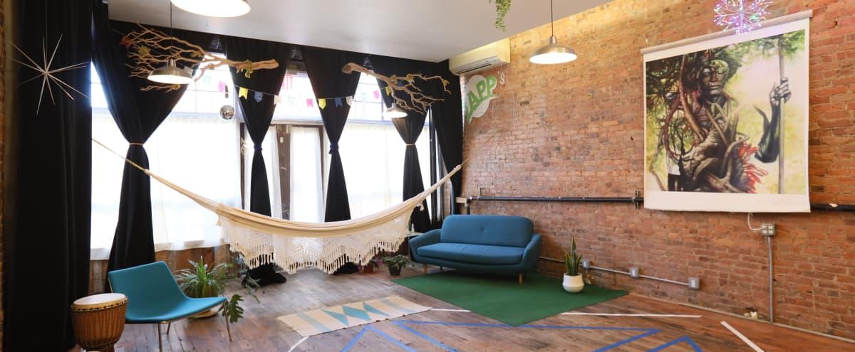 Hip Rustic Space, Tastefully Decorated in Brooklyn Hero Image in Ocean Hill, Brooklyn, NY