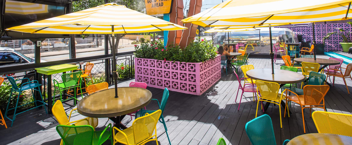 Neon Themed Patio for Small Events | Outdoor Space in Houston Hero Image in Hyde Park, Houston, TX