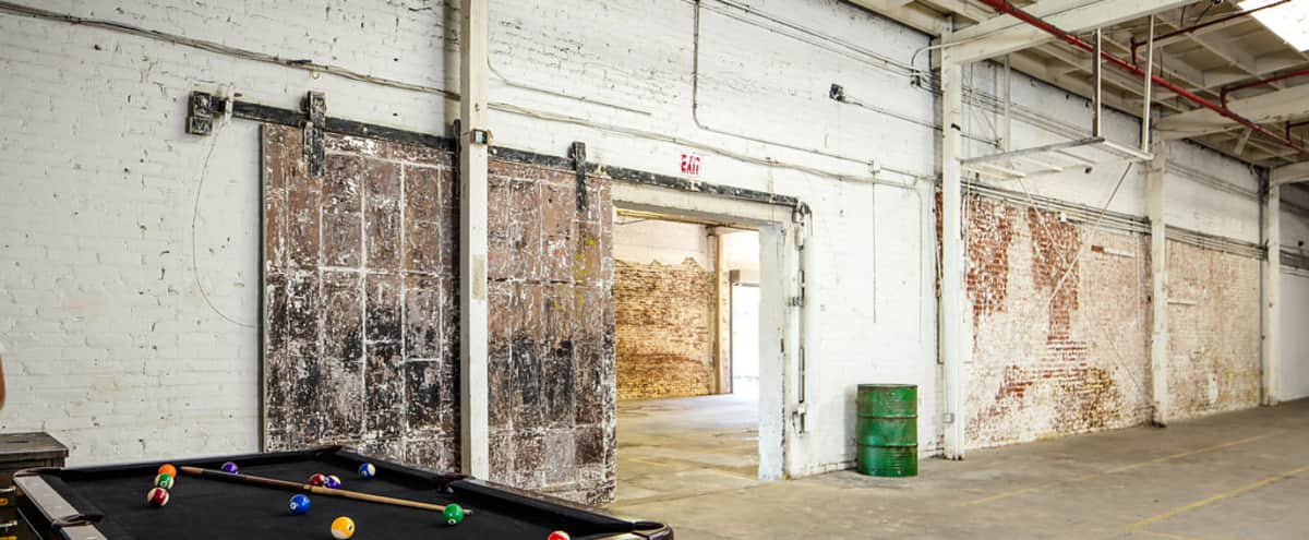 OVER 15,0000 sq ft Warehouse Complex with Graffiti Alley + Parking + EQUIPMENT ON THE PREMISES  - (No more Pick up or drop off) in Los Angeles Hero Image in South Los Angeles, Los Angeles, CA