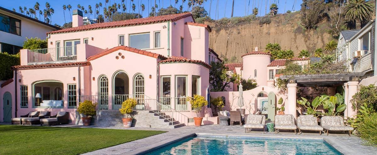 Pink Beach House in Santa Monica Hero Image in North of Montana, Santa Monica, CA