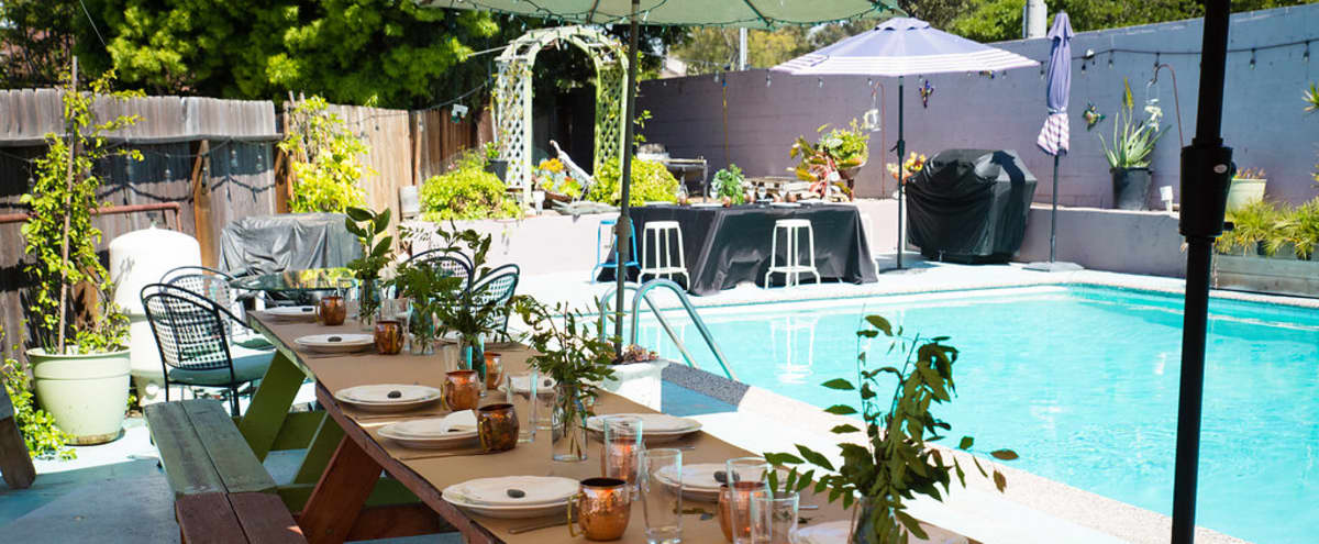 Retro-Modern House Perfect for Small Outdoor Events, and Shoots in Culver City Hero Image in Blanco - Culver Crest, Culver City, CA
