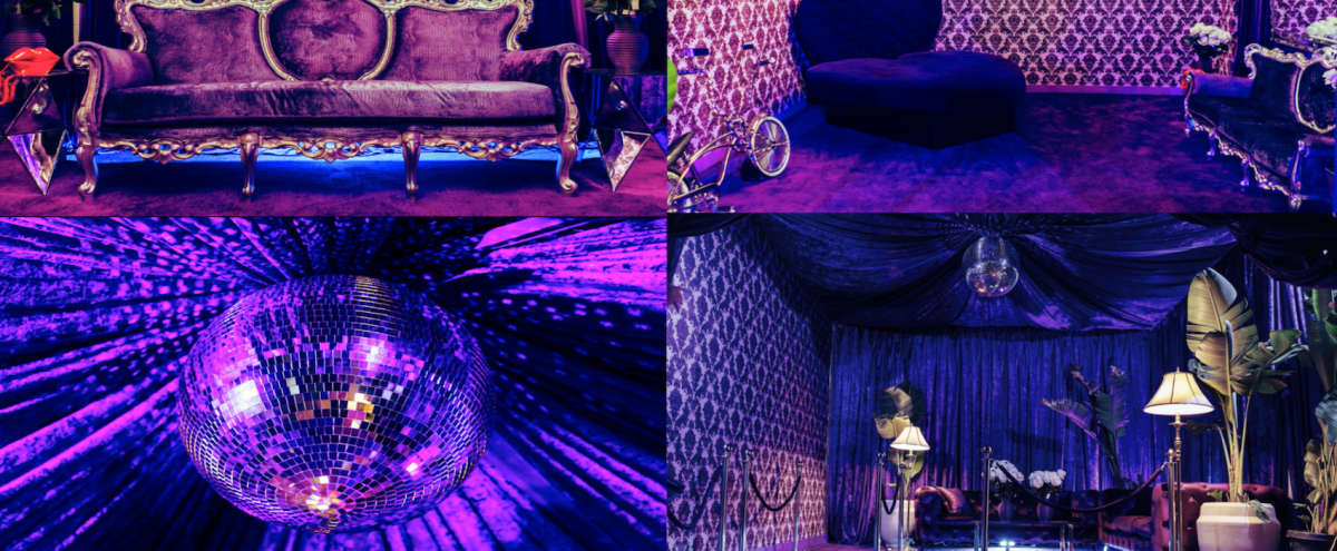 70s Purple Palace w/ Heart Bed x Champagne room in Los angeles Hero Image in Central LA, Los angeles, CA