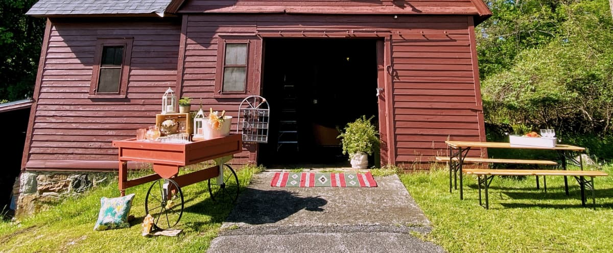 Rustic, Wooded 5-Acre Country Estate with Little Red Barn - One Hour from NYC in Newburgh Hero Image in undefined, Newburgh, NY