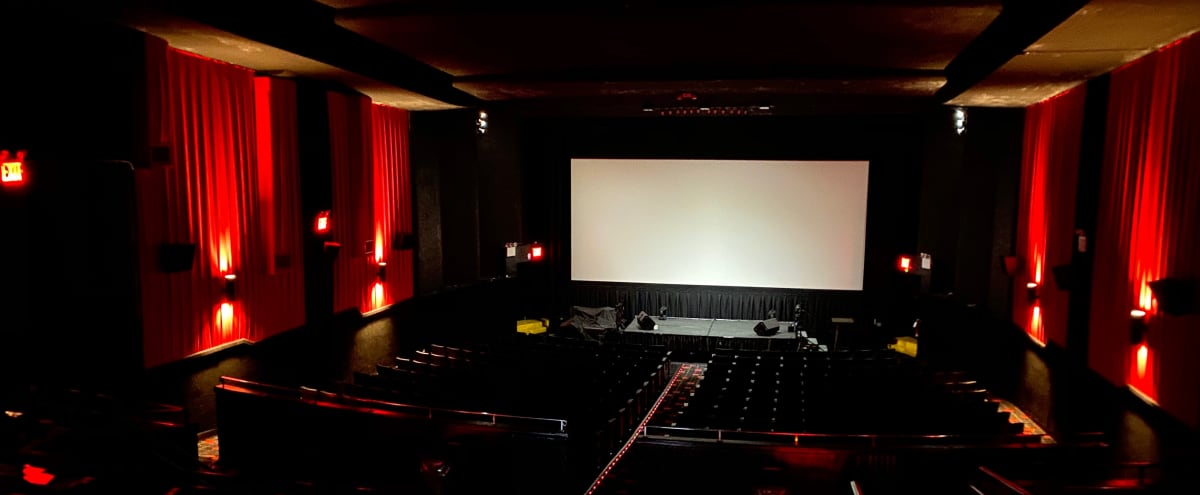 Large Movie Theater Venue/Concert Hall/Auditorium/Corporate Seminar Event Space with Double Level Balcony Seating & Spacious High Ceilings in Fresh Meadows Hero Image in Utopia, Fresh Meadows, NY