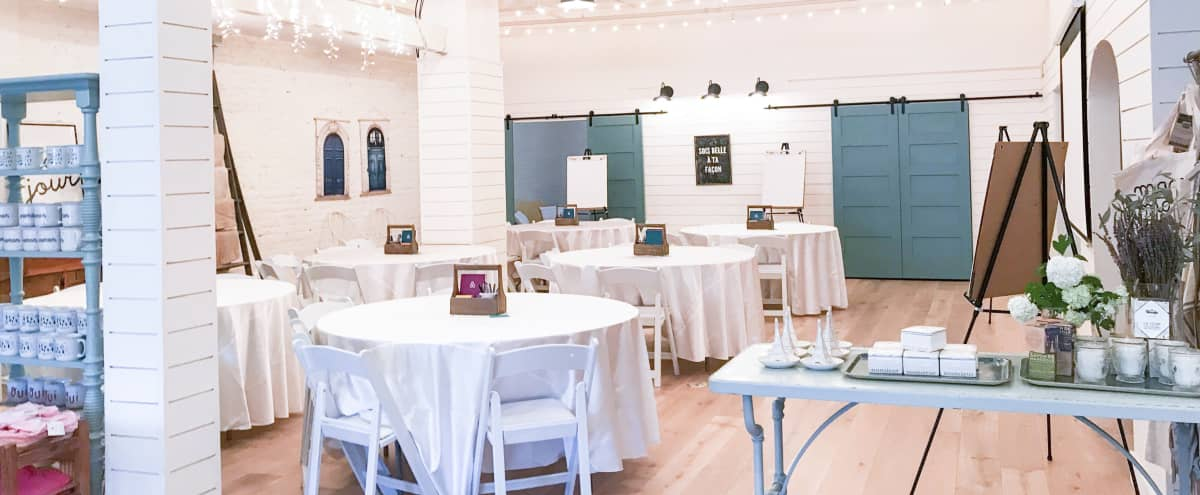 Barn-like Lofty Space with High Ceilings, Market-Lights, Painted Brick and Murals, Perfect for Receptions and Team Offsites in San Francisco Hero Image in Polk Gulch, San Francisco, CA