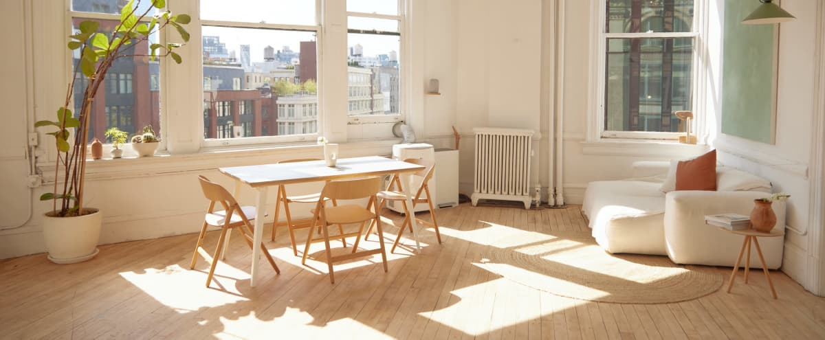 Chic, Scandinavian Soho Loft with Natural Light, Made for Instagram, E-Commerce & Creatives in New York Hero Image in Lower Manhattan, New York, NY