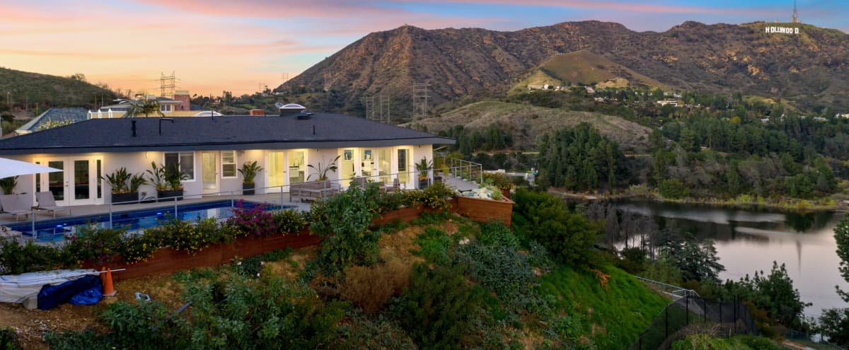 The Edge: Modern North Hollywood House with Hollywood Sign, Lake Hollywood, Griffith Observatory and Downtown Views! in North Hollywood Hero Image in Hollywood Hills, North Hollywood, CA