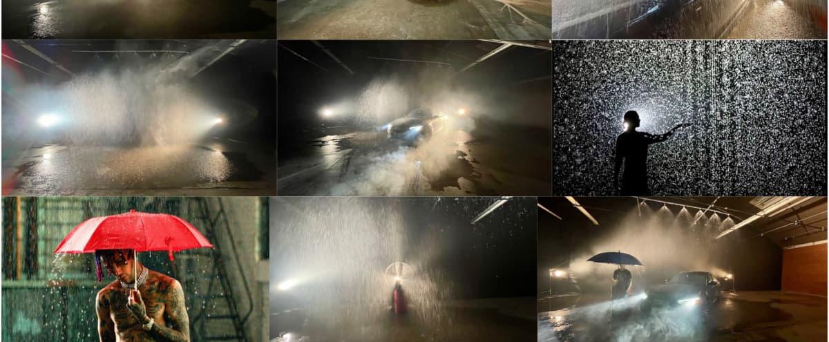 Huge Rain Room Warehouse Studio Location in Los Angeles Hero Image in South Los Angeles, Los Angeles, CA