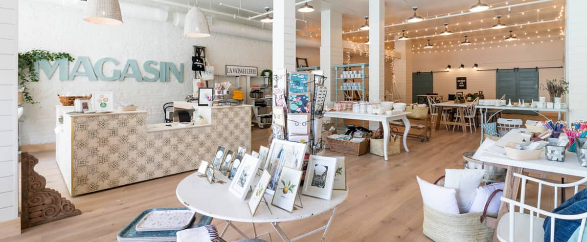 Barn-like Space with High Ceilings, Market-Lights, Painted Brick and Murals, Perfect for Receptions and Team Offsites in San Francisco Hero Image in Polk Gulch, San Francisco, CA
