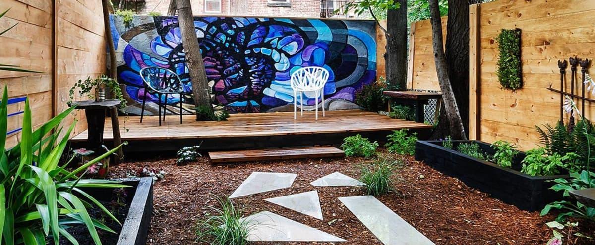 Mid-Century Modern Garden Paradise in Brooklyn Hero Image in Bushwick, Brooklyn, NY