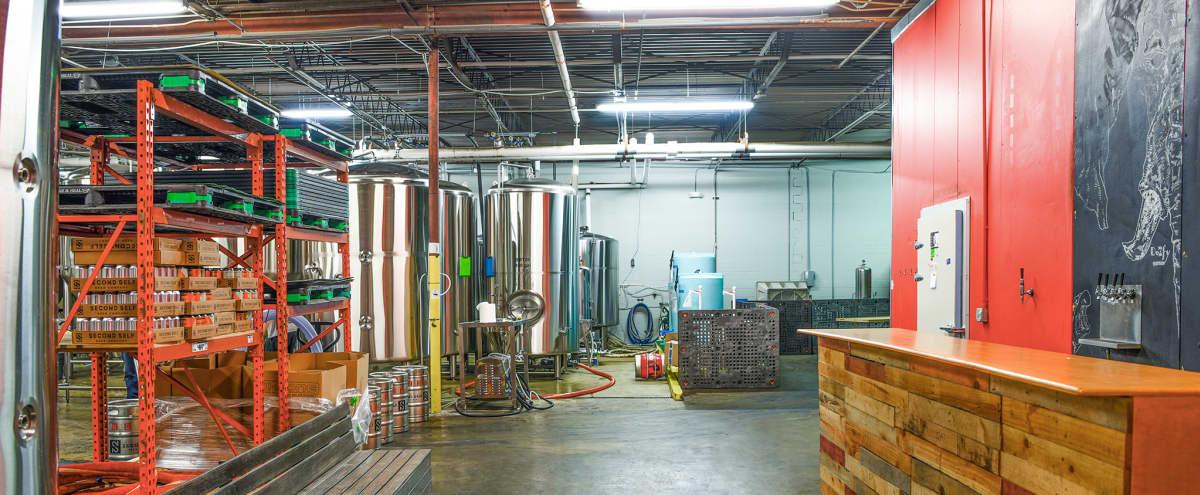 Industrial Chic Brew House with Trendy Stainless Steel Fermentors in Atlanta Hero Image in Buckhead, Atlanta, GA