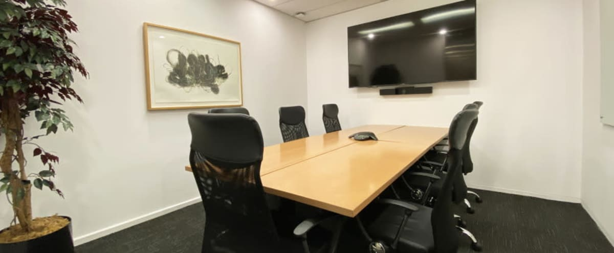 8-Person Meeting Room | Mediterranean in Toronto Hero Image in South Core, Toronto, ON