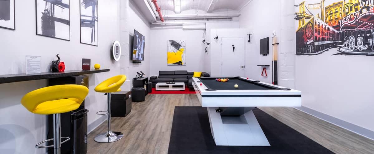 Modern Gallery Vibe Private Lounge in Dumbo in Brooklyn Hero Image in Vinegar Hill, Brooklyn, NY