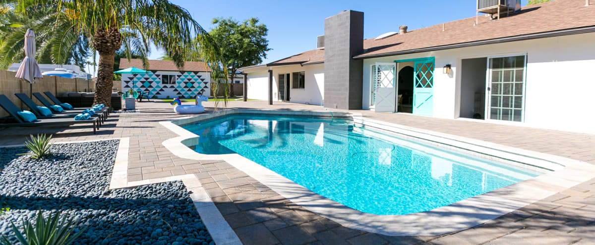 Modern Desert Oasis w/ Pool & Custom Southwest Wall in Scottsdale Hero Image in Avant, Scottsdale, AZ