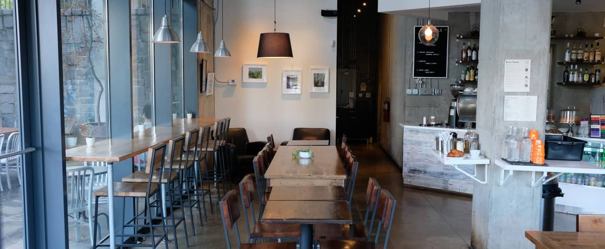 Stylish and Spacious Coffee Shop with Great Natural Lighting and High Ceiling. A Perfect Location to Celebrate in Atlanta Hero Image in Old Fourth Ward, Atlanta, GA
