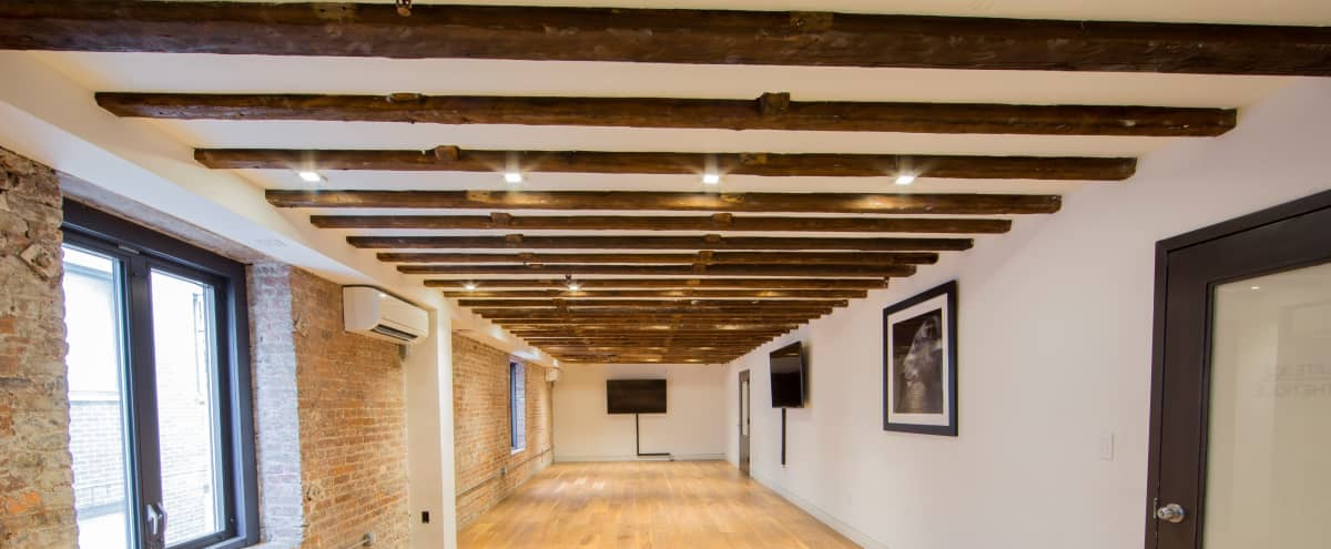 Ultimate Creative Studio in LES/Chinatown with Character, Exposed Brick and Wooden Beams in New York Hero Image in Chinatown, New York, NY