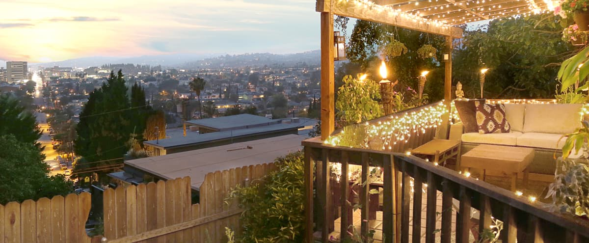 Cozy Hillside Event House - With View in Los Angeles Hero Image in Los Feliz, Los Angeles, CA
