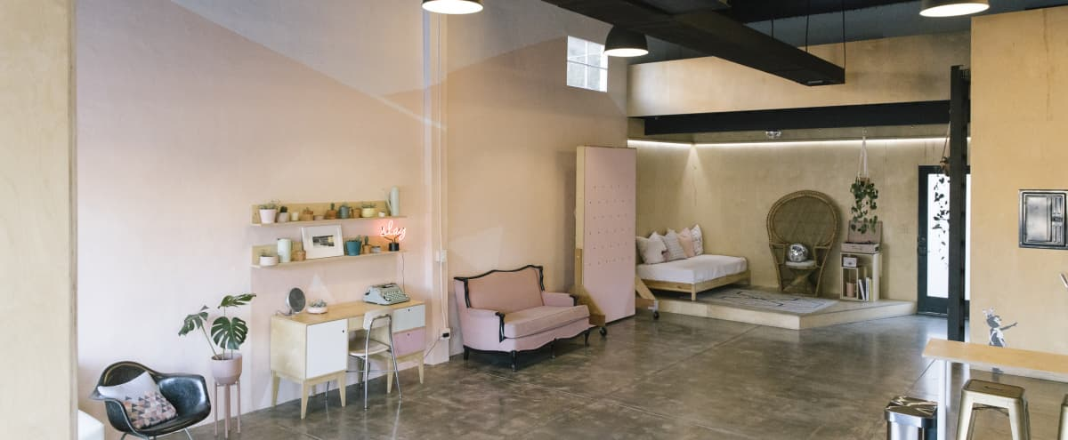 Pink & Retro Commercial Space in Studio City Hero Image in Studio City, Studio City, CA