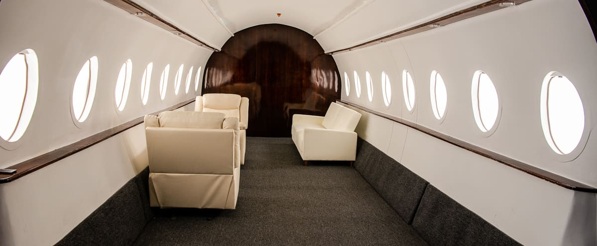 Unique Private jet Studio featured in many Magazines and music videos available for photo & video shoots with free parking - Olympic 4 in Los Angeles Hero Image in Boyle Heights, Los Angeles, CA