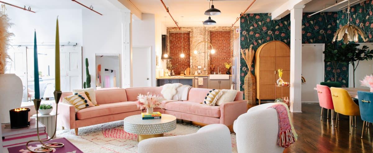Colorful Apartment Loft in Brooklyn Hero Image in Williamsburg, Brooklyn, NY