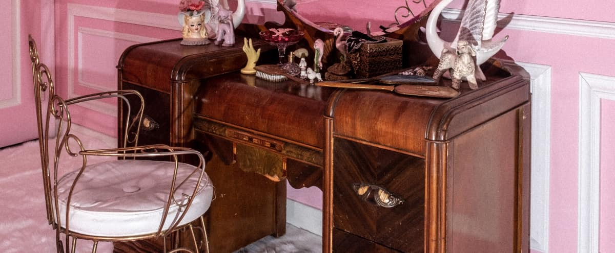 Opulent Pink Poodle Room, Midcentury House, and Tiki Bar in Costa Mesa Hero Image in Mesa Del Mar, Costa Mesa, CA