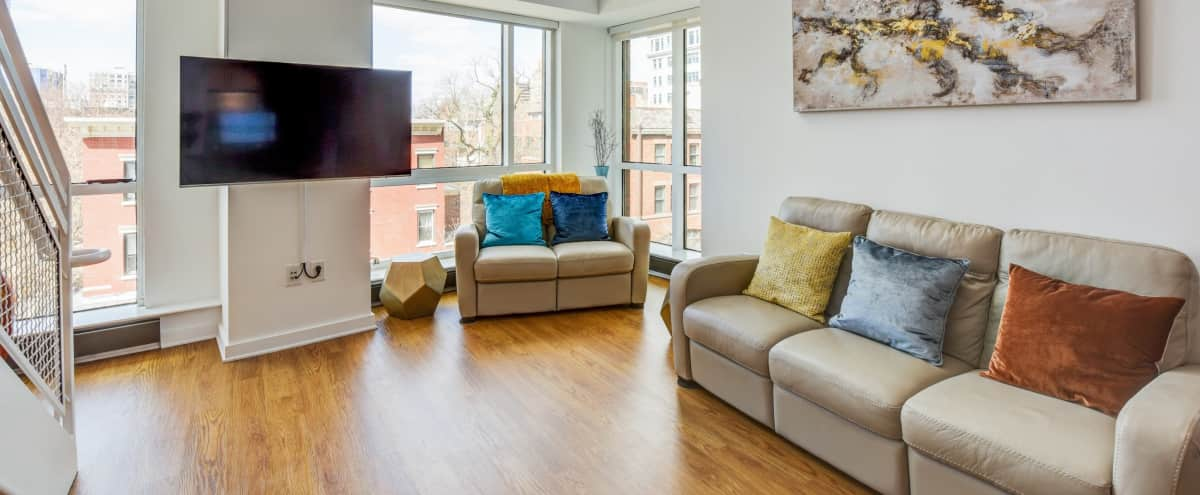 Beautiful 2 Floor Loft 4 Mins Away From NYC Perfect For Video/Photo Shoots Statue Of Liberty View in Jersey City Hero Image in The Waterfront, Jersey City, NJ