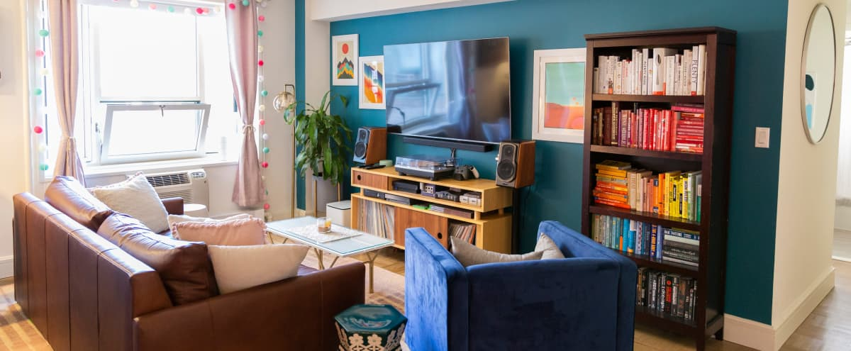 Vibrant & Stylish East Village Flat in New York Hero Image in Midtown Manhattan, New York, NY