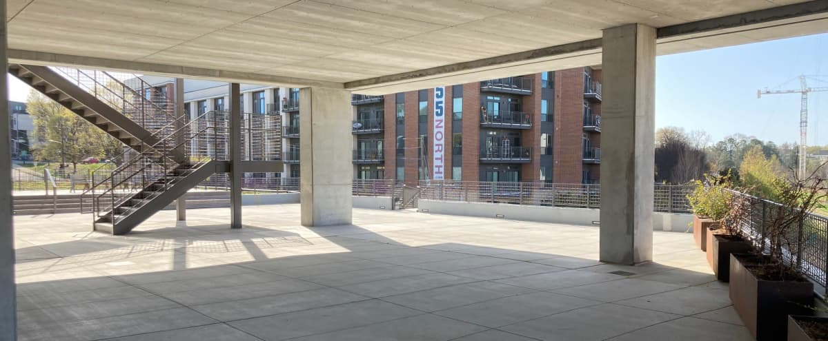 Expansive Terrace with Open Views of the ATL Skyline in Atlanta Hero Image in Poncey-Highland, Atlanta, GA
